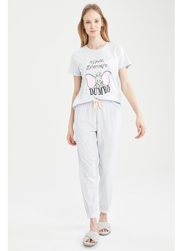 DeFacto Dumbo Lisanslı Relax Fit Pijama Takımı Mavi